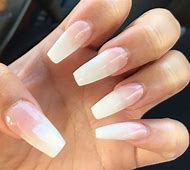 Ombre Solar Nails Coffin Shape