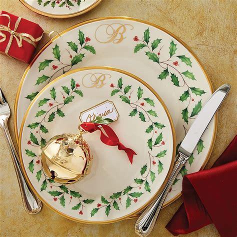 holiday monogram salad plate lenox holiday plates