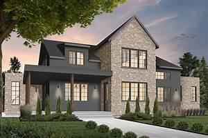 Elegant Modern Farmhouse Home Plan With 4 Beds And 3 5 Baths