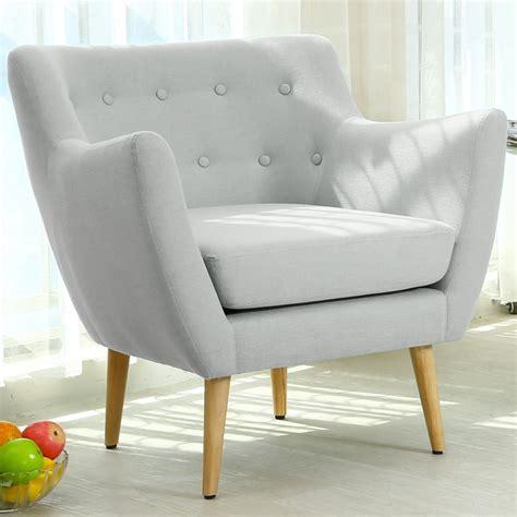 fauteuil scandinave stuart tissu gris pas cher