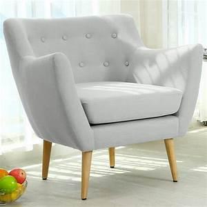 Fauteuil Scandinave Tissu : fauteuil scandinave stuart tissu gris pas cher scandinave deco ~ Teatrodelosmanantiales.com Idées de Décoration