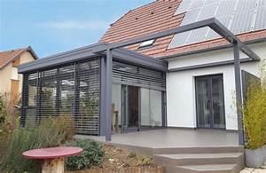 Veranda Rideau Pergola : extension pergola avec veranda ~ Melissatoandfro.com Idées de Décoration