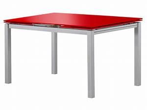 Conforama Table De Cuisine : table rectangulaire avec allonge 200 cm max tokyo 3 coloris rouge vente de table de cuisine ~ Teatrodelosmanantiales.com Idées de Décoration