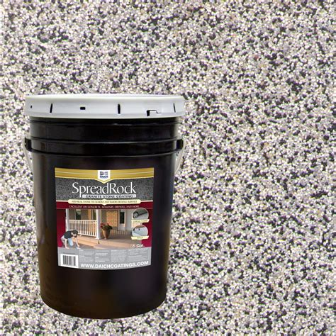 Porch Paint Reviews by Spreadrock Granite Coating 5 Gal Flint Gray Satin