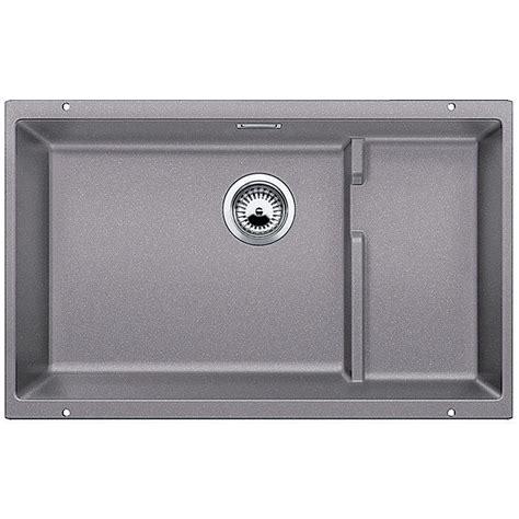 blanco silgranit single bowl sink in metallic gray blanco precis cascade undermount granite composite 29 in