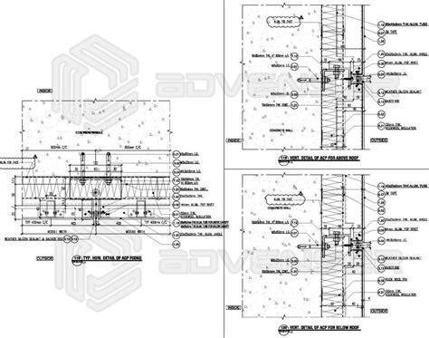 aluminum composite panel acp cladding detailing drafting services