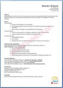 flight attendant resume format flight attendant resume flight attendant resume sle writing guide rg 10 tips in writing a