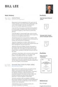 chief curriculum vitae chief of resume sles visualcv resume sles database