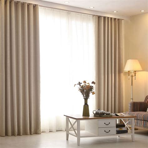 high grade modern living room curtains solid color linen