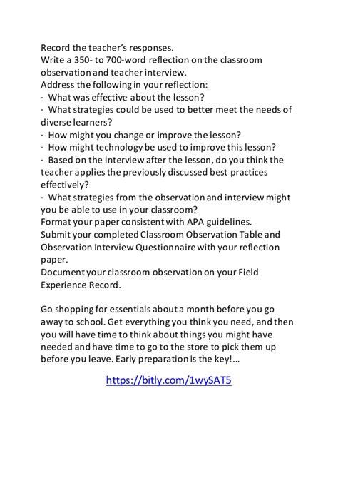 preschool observation essay essay classroom observation 207
