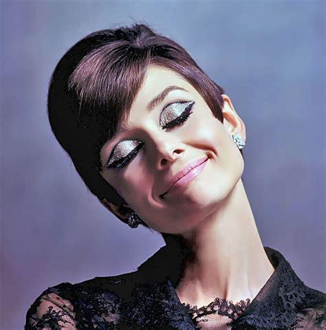 1966, Audrey Hepburn rocking some great silver eyeshadow ...