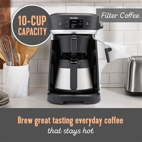 They also include milk frothers, adding that luxurious coffee shop finish to your drinks. Breville All-in-One Coffee House, Espresso, Filter and Pods Coffee Machine with Milk Frother ...