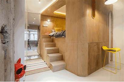 Bed Apartment Box Raised Modern Bedroom Stairs