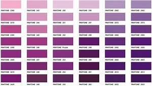 Purple Colour Charts Nomes De Cores Cores De Tinta