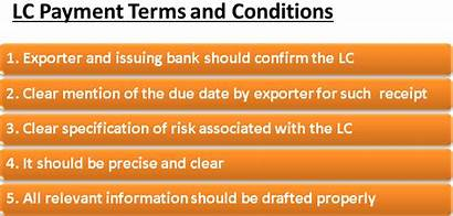 Lc Payment Terms Sight Conditions Export