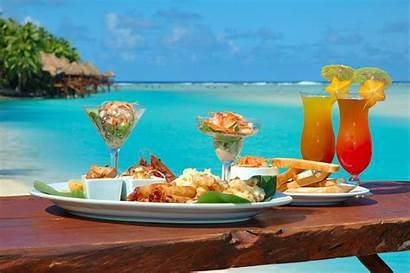 Beach Lunch Cook Islands Ocean Wallpapers Island