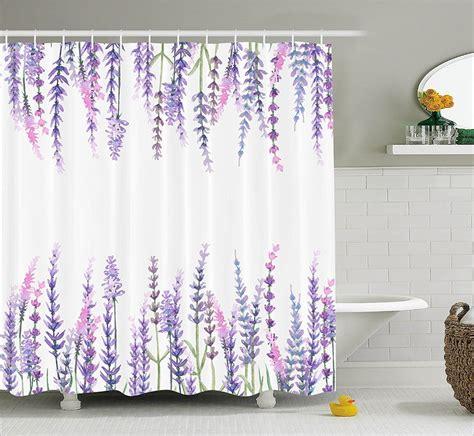 shower curtain purple flower lavender plants aromatic