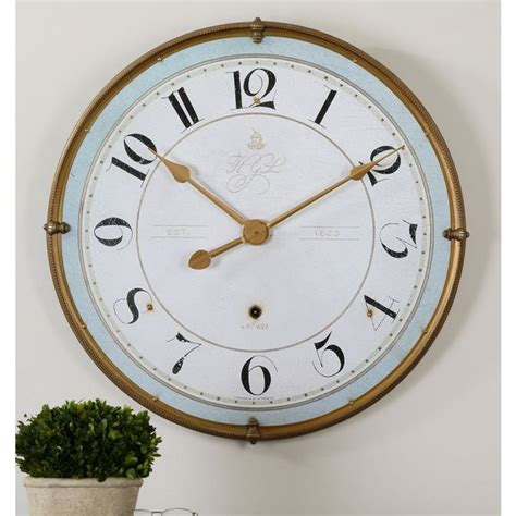 Uttermost Wall Clocks by Shop Uttermost Torriana Antiqued Goldtone And Ivory Wall