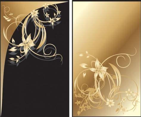 elegant gold floral card vector designs welovesolo