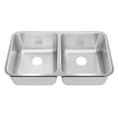 american standard undermount kitchen sinks american standard prevoir undermount brushed stainless 7446
