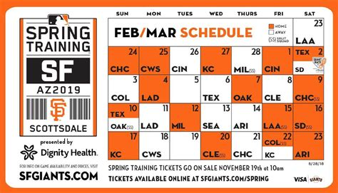 Sf Giants Schedule Printable