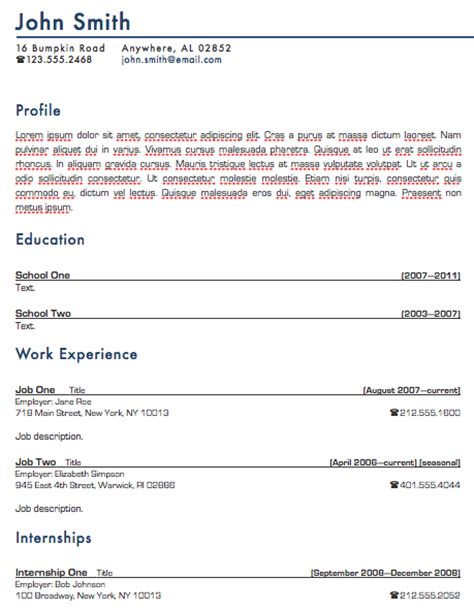 Iwork Resume Templates Free by Standard Resume Template For Pages Free Iwork Templates