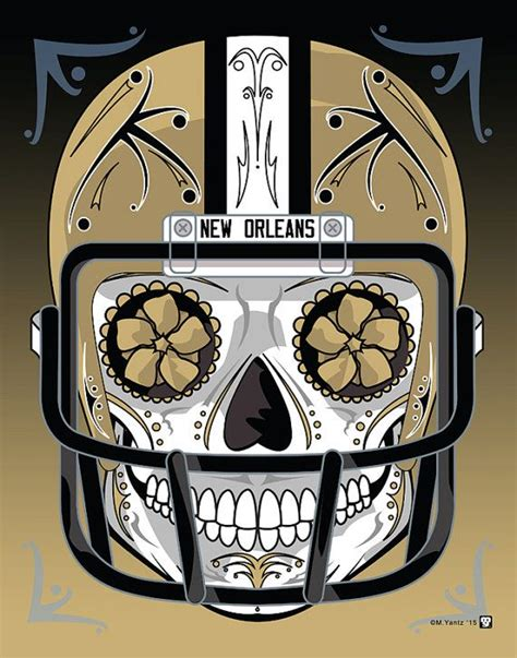 orleans saints sugar skull day   dead calavera