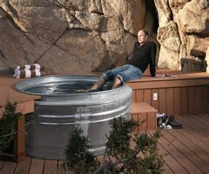 Galvanized Horse Trough Bathtub by Real Men Build Their Own Tubs How To Minute