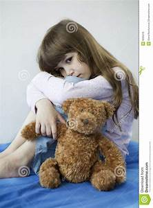 Little Cute Girl With Teddy Bear Royalty Free Stock Image ...