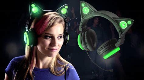 Cat Ears Headphones at Brookstone - YouTube
