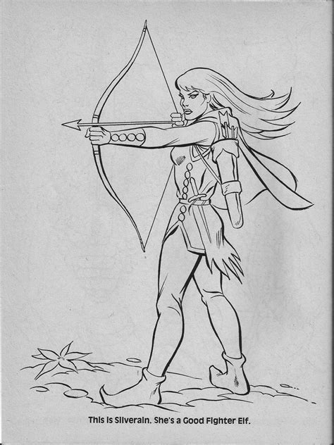 advanced dungeons dragons characters coloring book