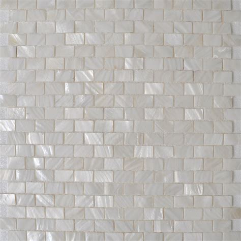 Of Pearl Mini Subway Tile by Shell Tile Mosaic Wall Tile Subway Tile Kitchen Backsplash