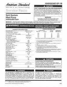 American Standard 4a6h5036e1000a Service Facts Pdf