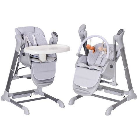 chaise haute transat bébé splity 3 in 1 high chair swing mp3 player via usb