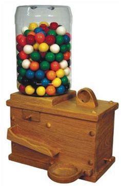 hand  wooden candy dispenser mm peanut skittles