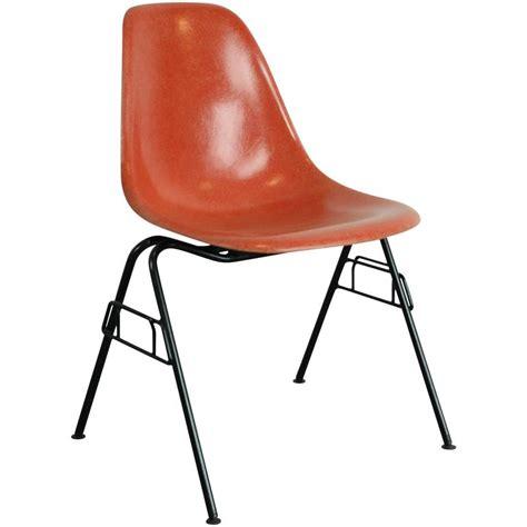 charles eames herman miller dss chair in blood orange on