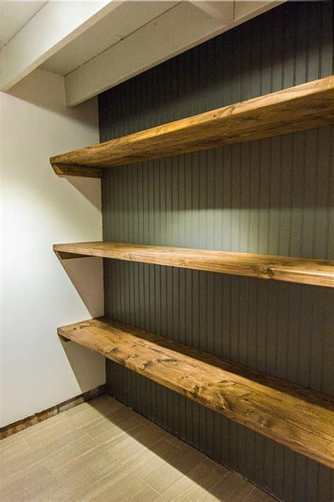 new laundry room diy wood storage shelves sue