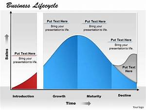 Business Lifecycle Powerpoint Template Slide