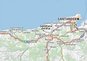 Mapa Santillana del Mar plano Santillana del Mar ViaMichelin