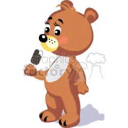 Royalty-Free teddy bear eating ice cream 370808 vector ...