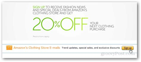 Get a 20% Off Code for Amazon Clothing via Email