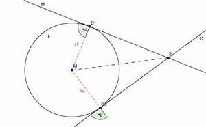 Tangente Berechnen Mit Punkt : tangentenkonstruktion von einem punkt p an einen kreis geogebra dynamisches arbeitsblatt ~ Themetempest.com Abrechnung