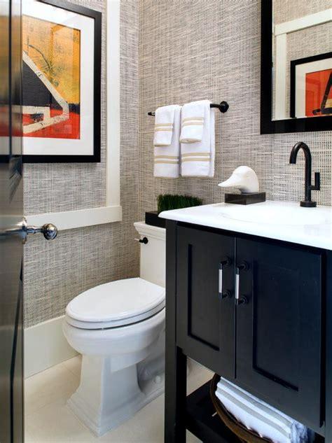 grasscloth wallpaper  small bathroom hgtv