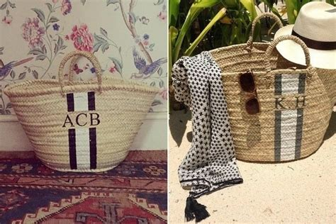 The Best Monogrammed Straw Tote