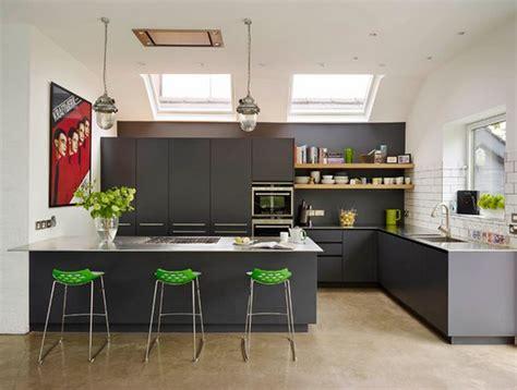 cuisine été cuisine avec table integrée deco maison moderne