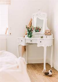 make up table French Style White Dressing Table and Stool Furniture - La ...