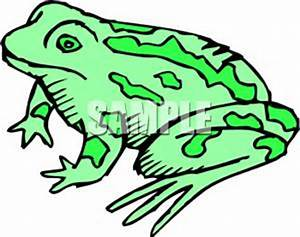 A Colorful Cartoon of a Green Amphibian - Royalty Free ...