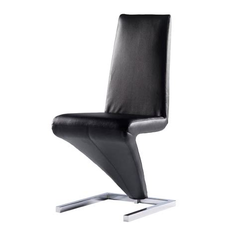 chaise cuir noir chaise design simili cuir noir diapason
