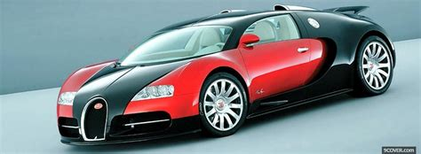 Bugatti Veyron Red And Black Photo Facebook Cover