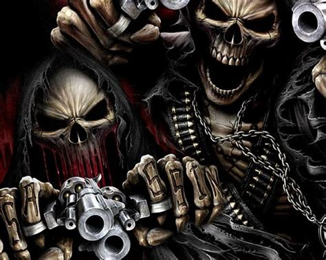 Skeleton Animated Wallpaper - free guns and skeletons jpg phone wallpaper by twifranny